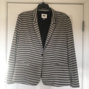 Size XXL Old Navy Black Gray Stripe Women's Blazer